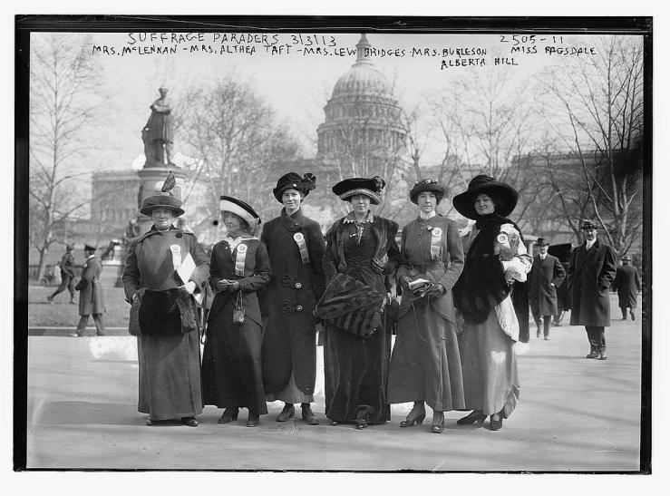 Suffrage paraders