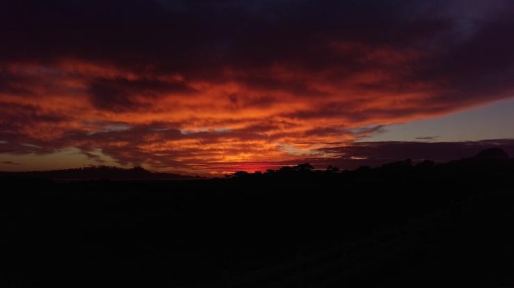 Monterey dramatic sunset