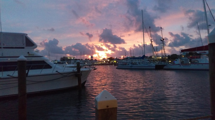 Sunrise at Key West-before the ships leave dock Oct 2018