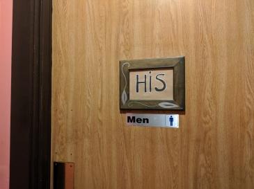 Bathroom--Peter Changs His