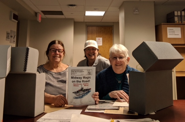 Bonnie Wendy and Pat at the Archives 2018Mar14
