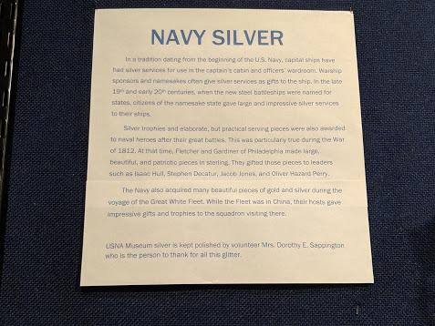 Navy Silver explanation, USNA