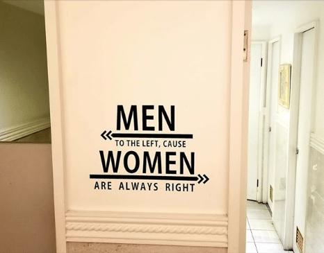 Bathroom-Men Left Women Right