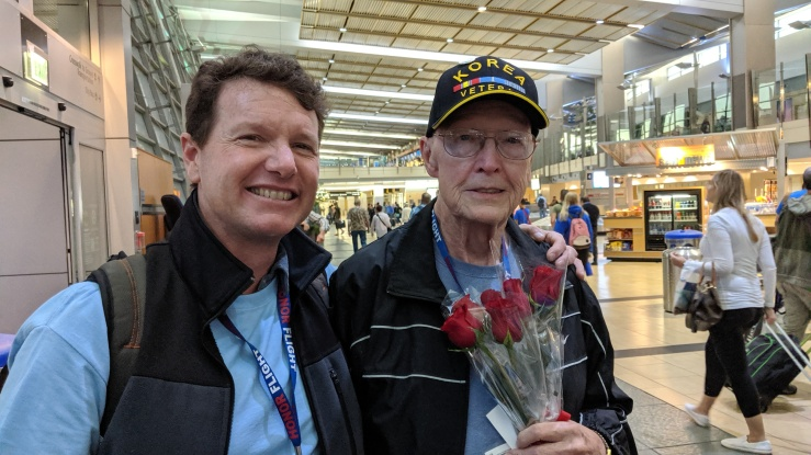 Hal and his Guardian from the Honor Flight on 20191006