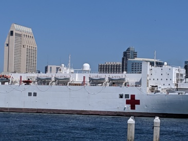 USS Mercry amidships