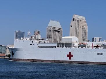 USS Mercy's bow