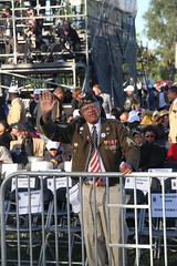 Veteran waving hello