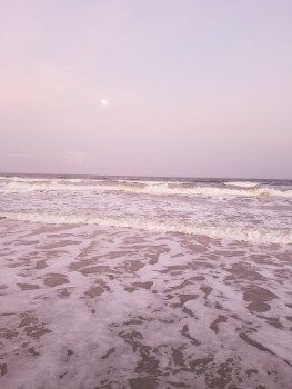 Full Moon and high tide off Florida's coast--