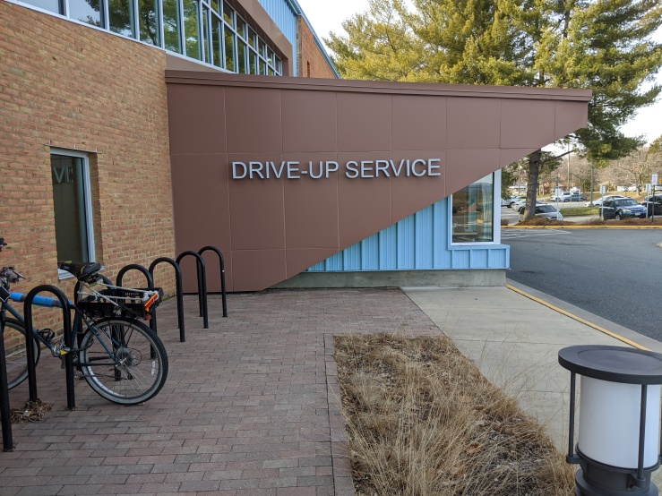 North Side Library Drive Up Service Sign