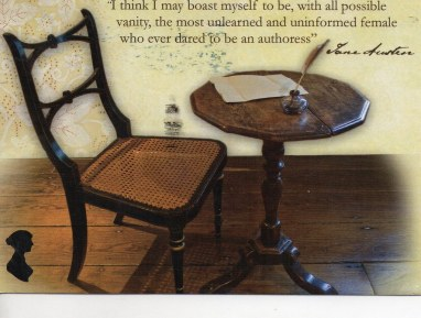 austen's writing table.