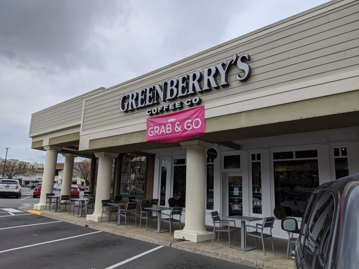 Coronavirus grab and go Greenberry's coffee