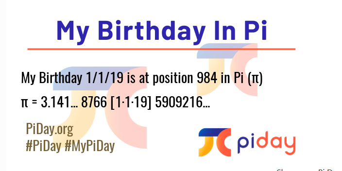 Pi birthday results
