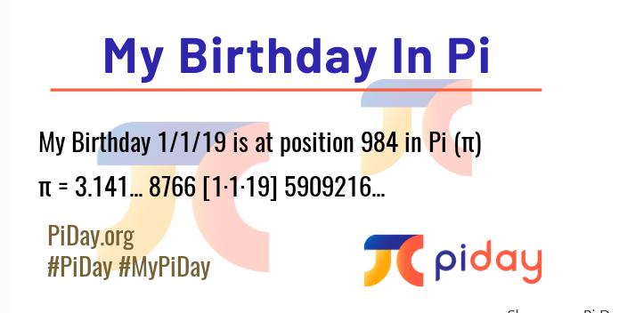 Pi birthday results