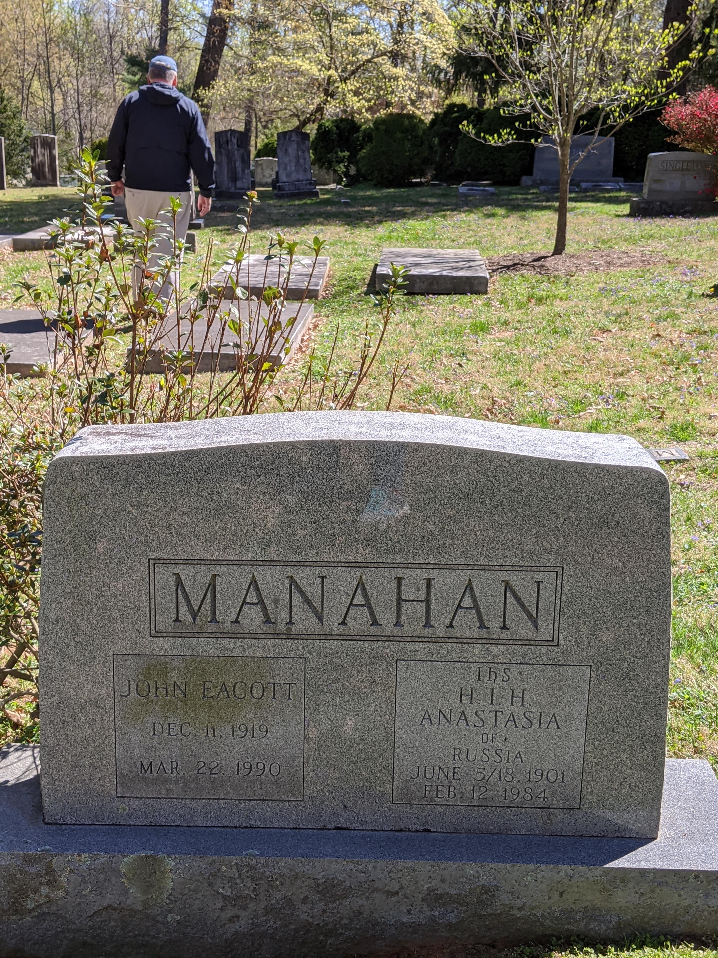 Mahan grave in the UVA Graveyard