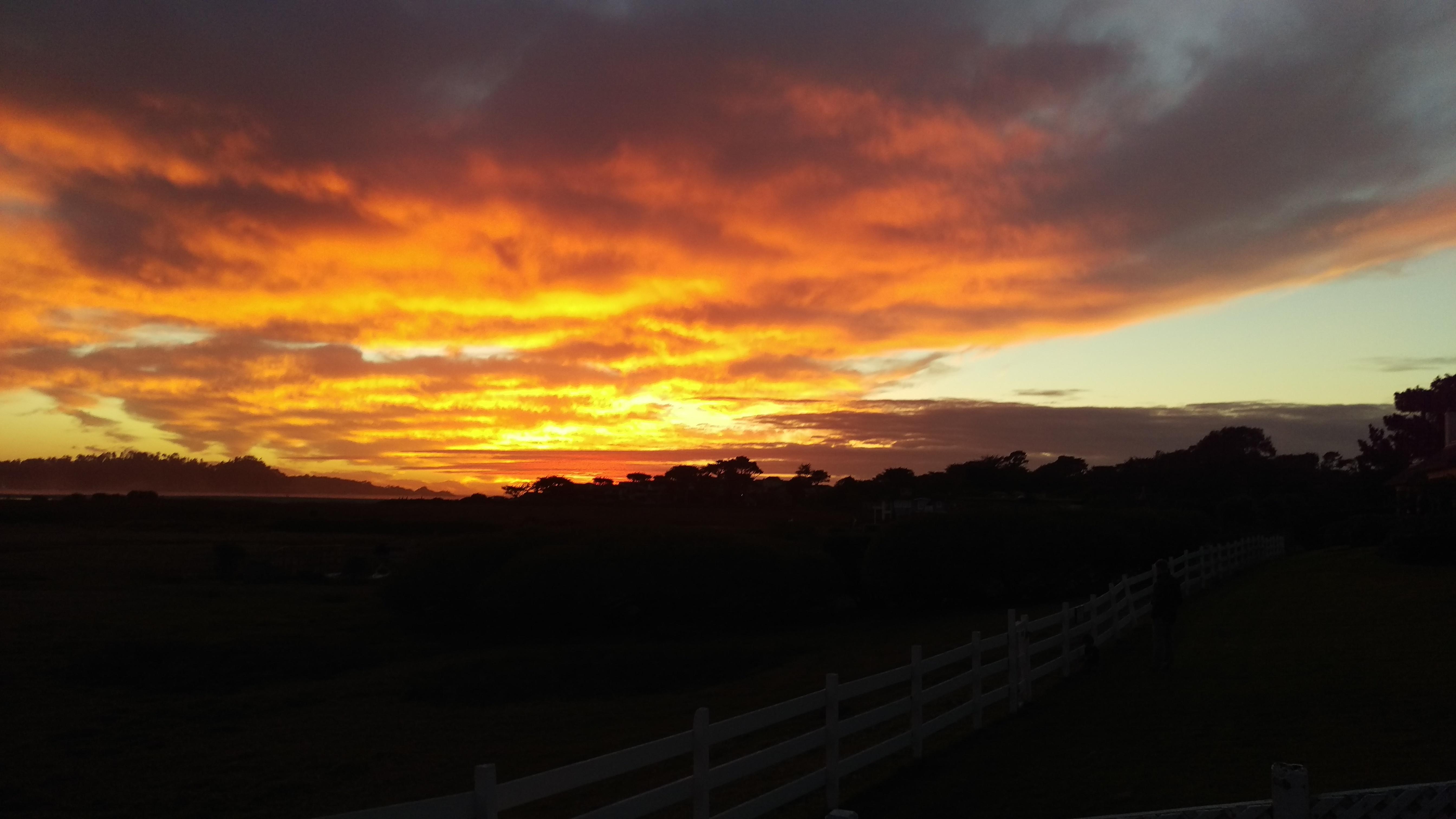 Carmel sunset over Point Lobos