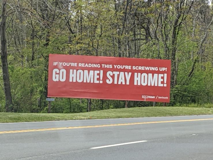 Corona Virus--Sign--Stay Home