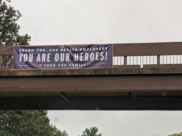 Corona Virus--Signs--UVA Heroes