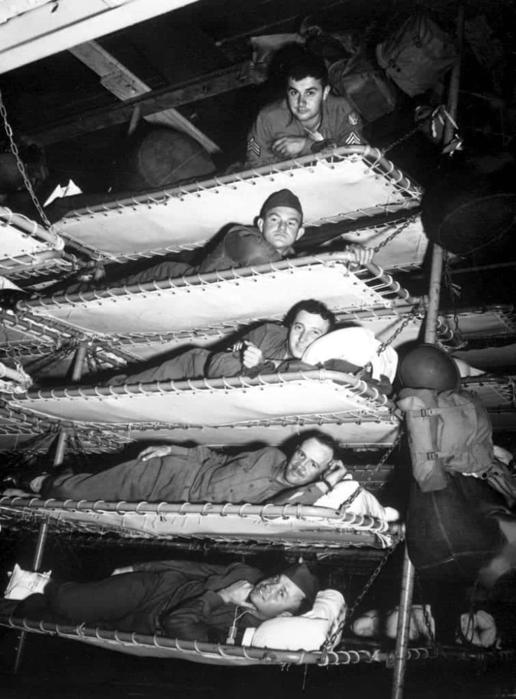 Bunks aboard the Army transport SS Pennant
