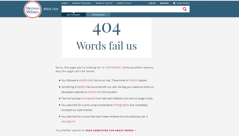 Fun with 404 errors