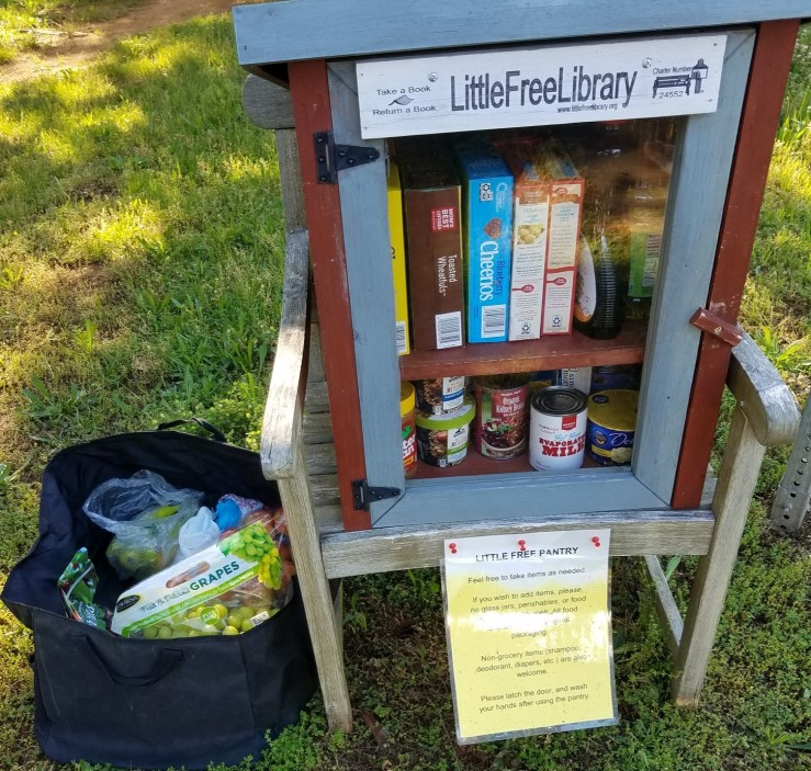 Little Free Pantry near Charlottesville, Virginia