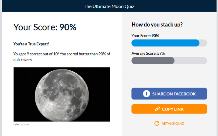 Ultimate Moon Quiz Results