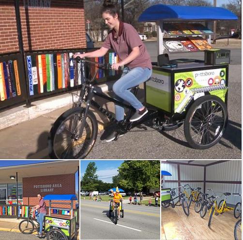 Pottsboro (TX) Library Book Bikes