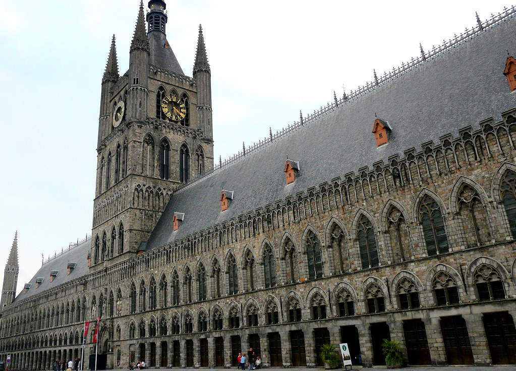 Rebuilt Gothic Cloth Hall of Ypres